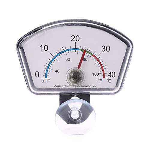 siwetg Aquarium-Thermometer, Zeiger für Aquarien, mit Saugnapf, Kunststoffthermometer