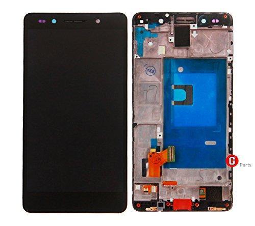 Premium Compleet LCD display touchscreen glas digitizer met frame voor Huawei Honor 7 (zwart) - Compleet LCD Display Assembly met frame - incl. NANO Profi 3-in-1 reinigingsset - Zwart Zwart - NIEUW