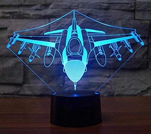 3D Illusion Night Light bluetooth smart Control 7&16M Color Mobile App Led Vision source Airplane Airplane power home battery children's sleep living room Halloween party table