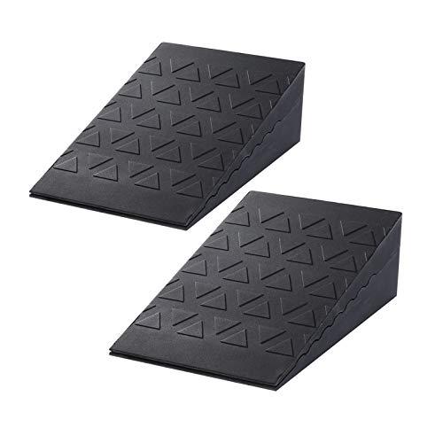 Harderwill Squat Wedge Block (Pair) Adjustable Non-Slip Squat Ramp, Deadlift Wedge, Calf Stretcher, Slant Board, Incline Board Improve Strength for Squat and Deadlift