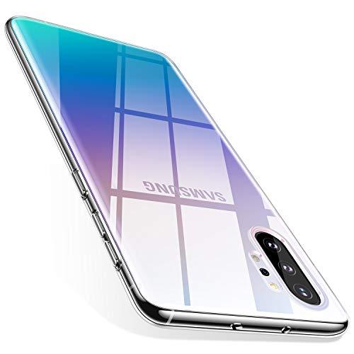 TORRAS Crystal Clear Kompatibel mit Samsung Galaxy Note 10+ Plus Hülle, Transparent [Anti-Gelb] Dünn Hülle Weiche Silikon Hülle Handyhülle Stoßfest Schutzhülle für Galaxy Note10+/5G - Klar