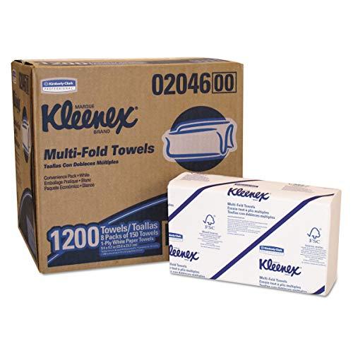 Kleenex Ultra 6772, Essuie-Mains Enchevêtrés, 2 Plis, Blancs, 30 Paquets x 94 Feuilles