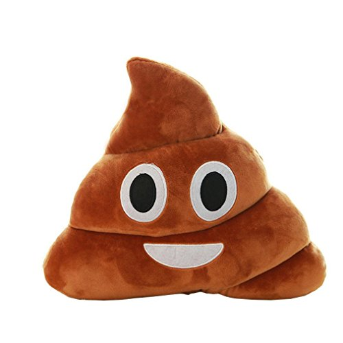 Trada Emoji Kissen, Brown Emoji Poop Kissen Plüsch Kissen Wohnkultur Kinder Geschenk Gefüllte Poop Puppe Schlüsselbund Sofakissen für Sofa, Heimdekoration, zum Selbermache (Braun)
