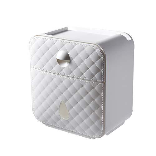 MEICHENG-DZ Erfrischendes Sanitärpapierkasten, WC-Papiertuch, Toilettenpapier-Rack, Haus frei Kreative wasserfestes Papier Rollenpapier Rohr einfach (Color : White)