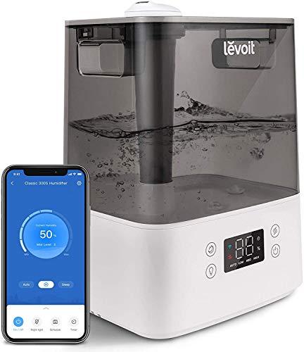 LEVOIT Top-Fill Humidificador Ultrasónico 6L de Vapor Frío a Bebes, Funciona con Alexa y APP, Dura 60H a Área 47m², Ultra Silencioso 26dB con...