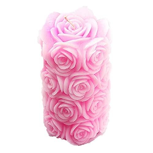 Vancgoods grande rose bougie bougie souple mariage gâteau décoration artisanat fimo DIY bougie silicone moule