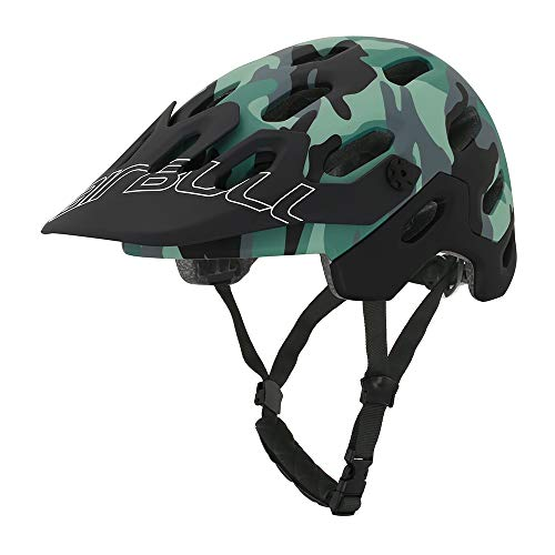 Cairbull SUPERCROSS Super Lightweight Caschi per bici 54-58cm Bicicletta Casco Mountain Cycling Casco opaco nero lucido per Orange (Neue Tarnung, S/M)