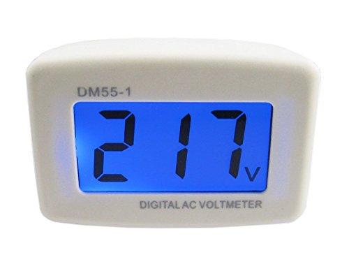 HUAHA AC 80-300V LCD Digital Volt Meter Voltmeter US Plug Electric Pen Voltage Testers Electrical Instruments -Volt Panel Meter Voltage Tester Gauge (White)