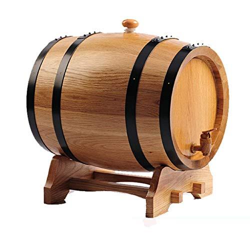 Elegante Scaffale per Vino in Botti Di Rovere Bileless da 5 Litri Di Botti Di Rovere Cotte da Tini, HJJ, Colore del legno, a