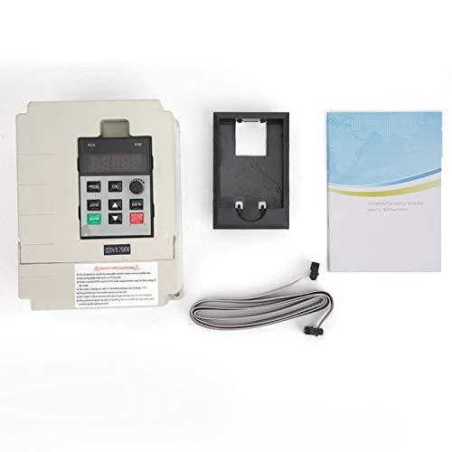 Inversor, convertidor de frecuencia de bucle abierto V/F, variador de frecuencia de entrada monofásico, blanco para bomba de agua de la industria de ascensores(0.75KW)