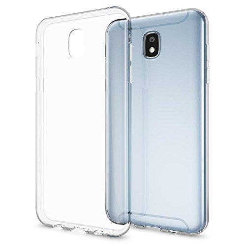 NALIA Custodia compatibile con Samsung Galaxy J5 2017 (EU-Model), Cover Protezione Silicone Trasparente Sottile Case, Gomma Morbido Ultra-Slim Protettiva Bumper Guscio - Trasparente