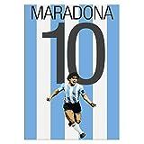 Pintura De La Lona 60x90cm Sin Marco Diego Maradona Argentina Soccer Football Star On Cotizaciones Decoración del hogar