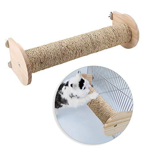 HEEPDD kat krabpaal, natuurlijke hout en sisal kat krabben paal kat kooi krabber post grappig speelgoed voor huisdier spelen klimmen ontspanning, Cage-hanging