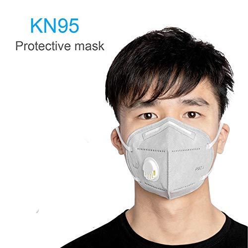 5Pcs/Staub Kn95 Mit Ausatemventil Luftfilter Anti-Grippe Anti-Infektion Kn95 Ffp3 Ohrband-Atemschutzgerät Anti-Fog Staub-Atemschutzgerät Grau Blau