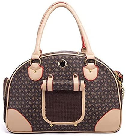 WLMT PU Leather Dog Carriers Fashion Pet Carrier Sling B 5% OFF Outdoor Year-end annual account