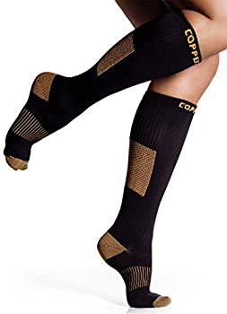 Womens Compression Socks for Nurses - CopperJoint Copper-Infused Compression Socks for Men with Comfortable Design Great for Muscle and Joint Recovery - Large - X-Large