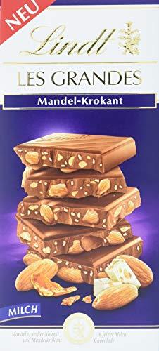 Lindt Les Grandes Mandel-Krokant Tafel, Vollmilchschokolade (1 x 150 g)