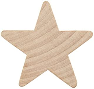 """1"""" Wood Star, Natural Unfinished Wooden Star Cutout Shape (1 Inch) - Bag of 500"""