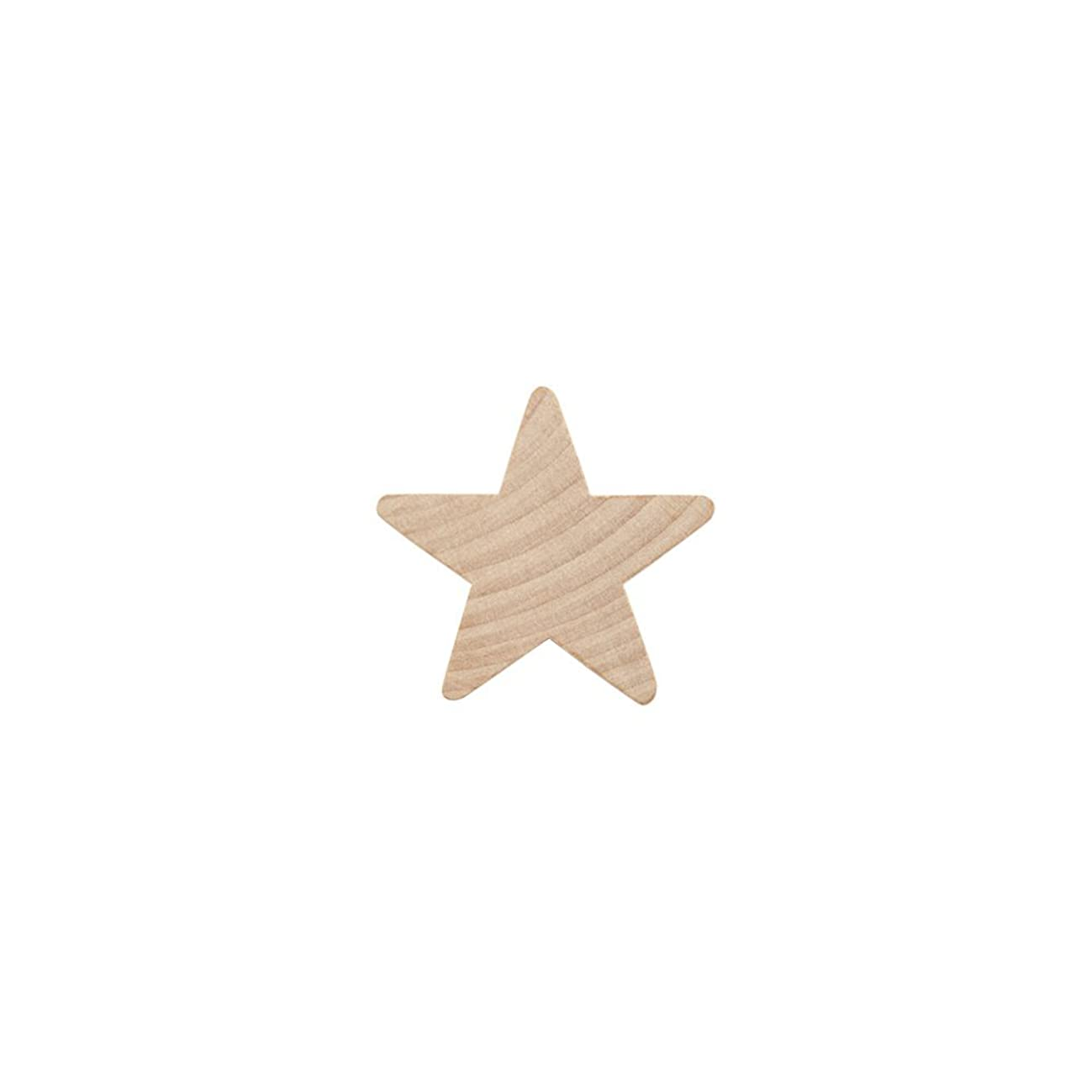 "1"" Wood Star, Natural Unfinished Wooden Star Cutout Shape (1 Inch) - Bag of 500"