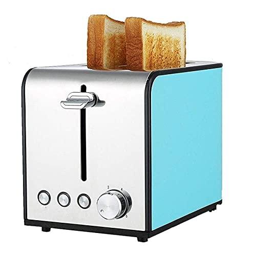 Frühstückshelfer Multifunktions-Brotmaschine Home Edelstahl Automatische kleine Toaster Frühstücksspucke Fahrer Heizmaschine Brotmaschine, Rot (Farbe: Blau)