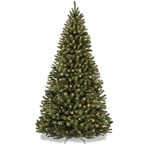 Best Choice Products SKY2888 7.5ft Pre-Lit Spruce Hinged Artificial Christmas Tree