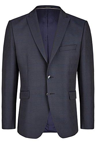 Wilvorst Jackett zum Hochzeitsanzug, dunkelblau in einem Galaglencheck, Drop8, Super-Slimline Größe 98