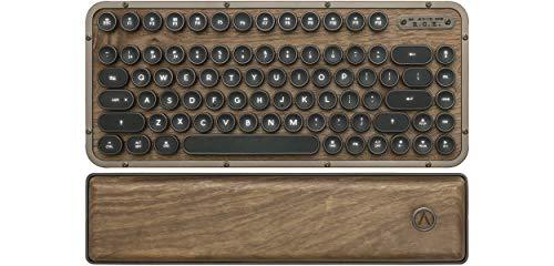 AZIO Retro Compact Keyboard (Elwood) - Luxury Vintage Backlit Mechanical Keyboard with Arm Rest