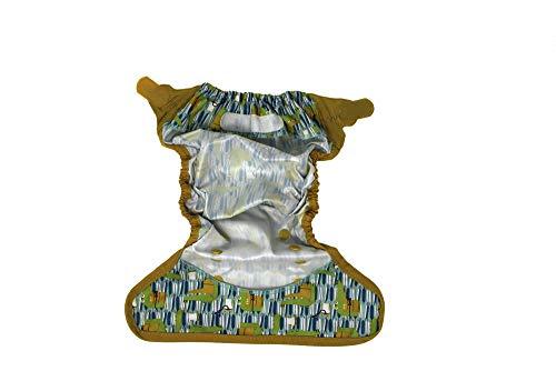 Beb/é de Tabla para dise/ño de Juego de pajas DE se Puede Lavar a Juego de Bolsillos de almacenaje de Tela Impermeable y 6 Piezas Bolsa de pa/ñales de 12Inserts Pack 15 Talla:All in One