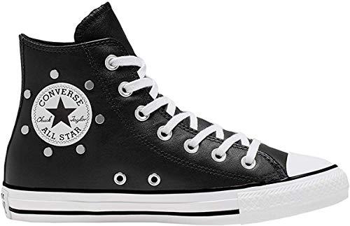 Converse Chuck Taylor All Star Leather Studs HI Sneaker Damen Schwarz - 40 - Sneaker High