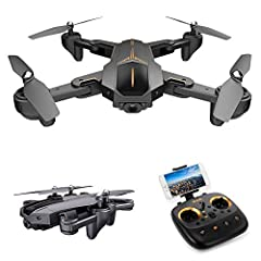 Functions: Foldable, Sideward flight, Turn left/right, up/down, Forward/backward, Altitude hold, One key take off/landing, WiFi FPV, headless mode, auto return, waypoint fly, surround flight, Follow me. 5G WiFi 4K camera enables you to have a further...