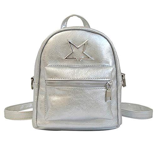 shuangklei Zaino da viaggio per zaino da scuola in pelle mini zaino da donna impermeabile Antifurto Daypack casual per ragazza di marca di lusso Satchel-A