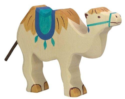 Holztiger Kamel mit Sattel, 80165