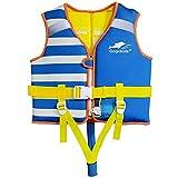 Chaleco de Baño para niños pequeños Aprender 29-48 lbs, Chaleco de Entrenador de natación para niños con Silbato de Emergencia y cinturón de Seguridad Ajustable