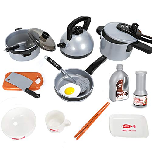Fineday Children Kitchen Play Toy 9/11/15 Pcs/Set Pots Pans Cookware Pretend Toy Gifts, Toys and Hobbies (C)