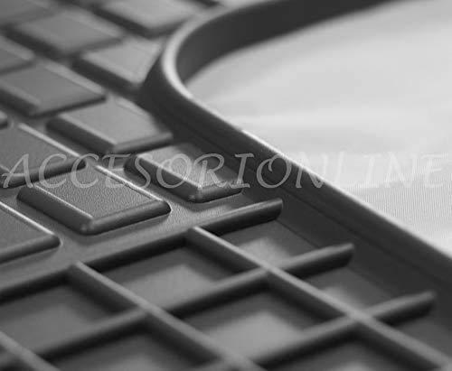 Accesorionline Alfombrillas de Goma para Mercedes Clase C 2000-2007 / CLK II alfombras W203 esterillas sportcoupe Sedan Estate Sport Coupe S203 C203 CL203 W209 C209