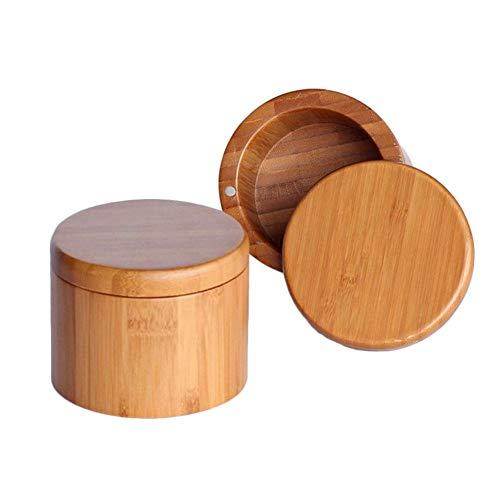 Poivre et Sel de Cuisine étui de Rangement, Bois de Bambou épices de Stockage pour Cuisine, Salle à Manger, Table de Salle à Manger