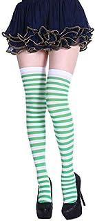 thematys®, thematys Medias de Rodilla de Mujer en 5 diseños Diferentes - Calcetines de diseño Retro de Rayas para niñas y Mujeres (Style 1)