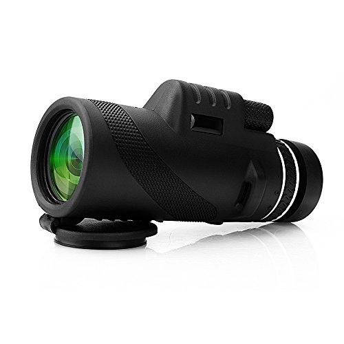 Telescopio monocular 40X60 con enfoque dual zoom óptico Telescopio impermeable a prueba de niebla con visión para día y noche de pájaros turismo caza acampada concierto y mucho más de 500 a 95