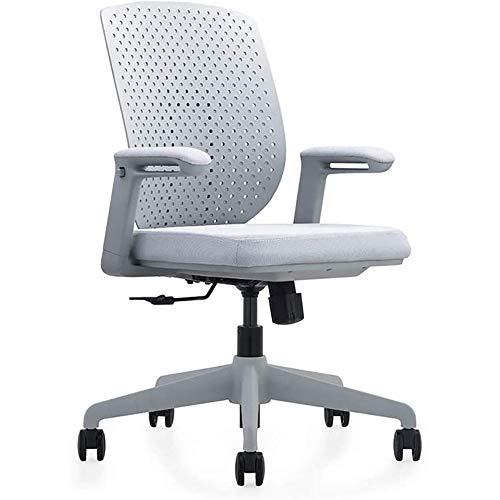 DJDLLZY Sillas y taburetes de videojuegos Sillas de oficina for el hogar, silla de trabajo giratoria adecuada for la oficina del acoplamiento del ordenador de escritorio con apoyabrazos y soporte lumb