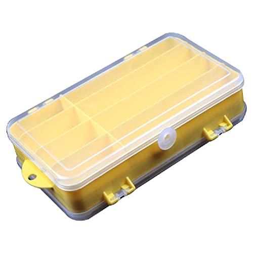 IRYNA - Contenitore portatile per attrezzi da pesca, con 13 scomparti per accessori da pesca, multicolore