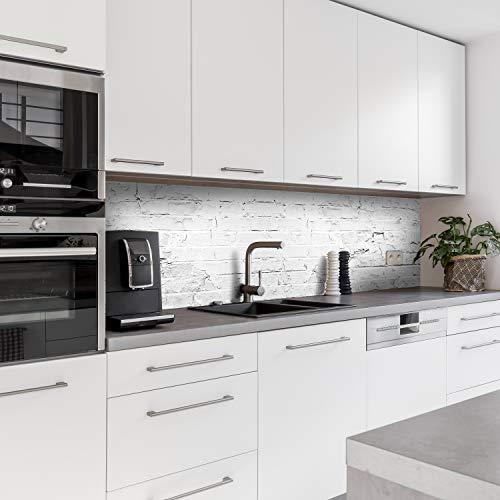 Dedeco Küchenrückwand Motiv: Stein V2, 3mm Acrylglas Plexiglas als Spritzschutz für die Küchenwand Wandschutz Dekowand wasserfest, 3D-Effekt, alle Untergründe, 220 x 60 cm