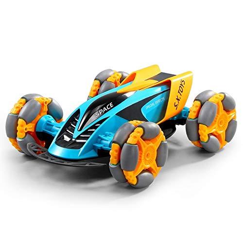 Darenbp Juguete RC para niños Juguete de control remoto de coches de radio de 2,4 GHz Carrera controlada del truco de RC coche de los Buggy 4WD Modelo de alta velocidad de carreras de camiones Toy Car