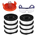 TOPEMAI AF-100 Spool Compatible with Black & Decker AF-100-3ZP GH900 GH600 String Trimmer, 0.065' String Trimmer Line Replacement (6 Spool + 1 Cap and Spring + 1 Goggles)