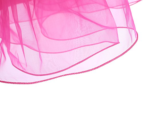 Gardenwed Kurz Damenrock 1950 Petticoat Reifrock Unterrock Tutu Minirock Ballett Tanzkleid Underskirt Crinoline für Rockabilly Kleid Red L - 5