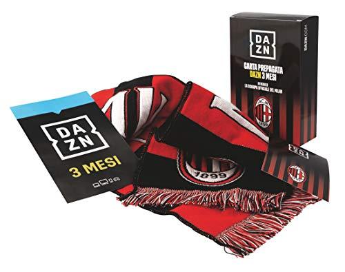 DAZN SPECIAL EDITION. Carta Prepagata DAZN 3 Mesi con in regalo la sciarpa ufficiale del Milan