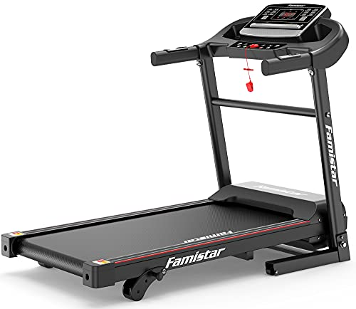 Famistar Incline Treadmill for Home - Space Saving Electric Treadmill Running Machine for Home Jogging Running, 3 Modes | MP3 Player | 12 Programs | LCD Display