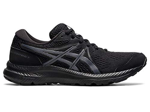 ASICS Women's Gel-Contend 7 Running Shoes, 7.5, Black/Carrier Grey
