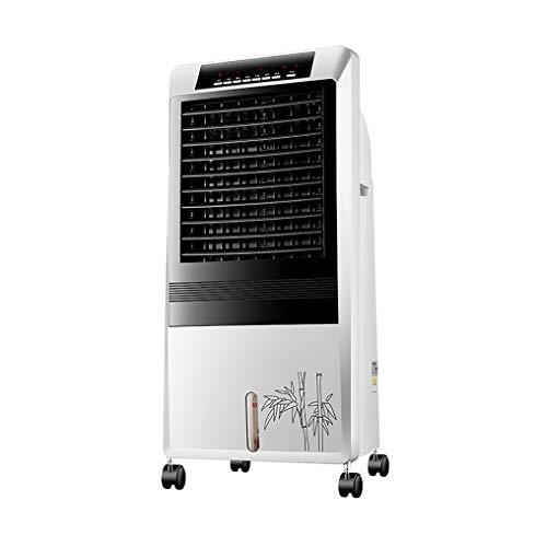 Air Cooler Purificador De Aire, Portatil Climatizador Humidificador con Nebulizador, Mando A Distancia Ventilador Oscilante Filtro De Polvo, Ruedas Móviles for Hogar/Oficina/Camping.