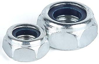 TREW 5/10/20 / 50st M2-M12 gegalvaniseerd staal Borgmoer Borgmoer Borgmoer Slip Nylon Hex Nut (Color : Xin, Size : M2.5 50...