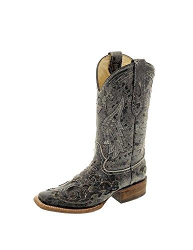 Corral Women's Vintage Exotic Python Western Black Cowboy Boots